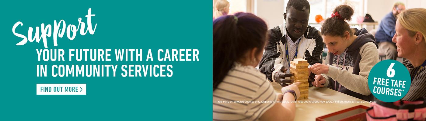 Career in Community courses at Kangan Institute