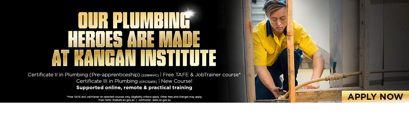 Plumbing Courses at Kangan Institute