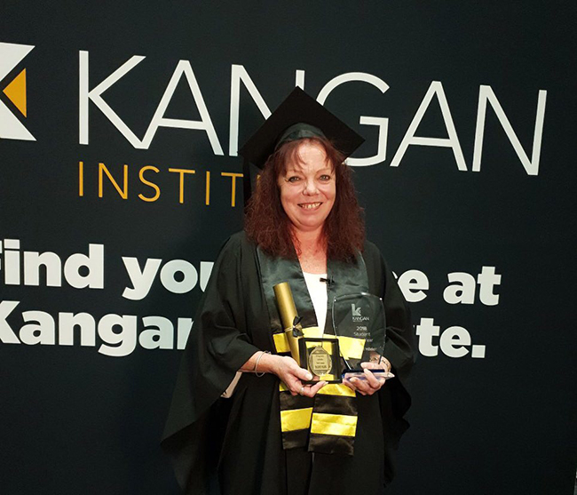 Rachael Hilder named Kangan Institute Student of the Year