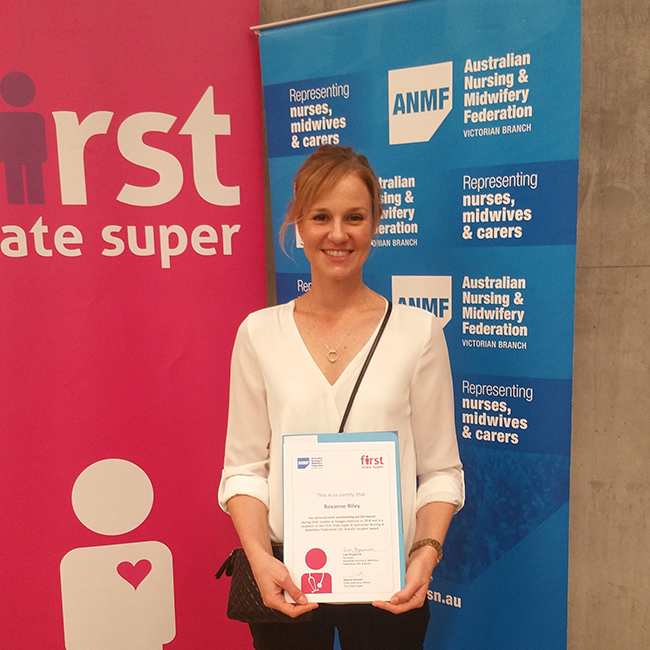Nursing student clinches Australian Nursing and Midwifery Federation award