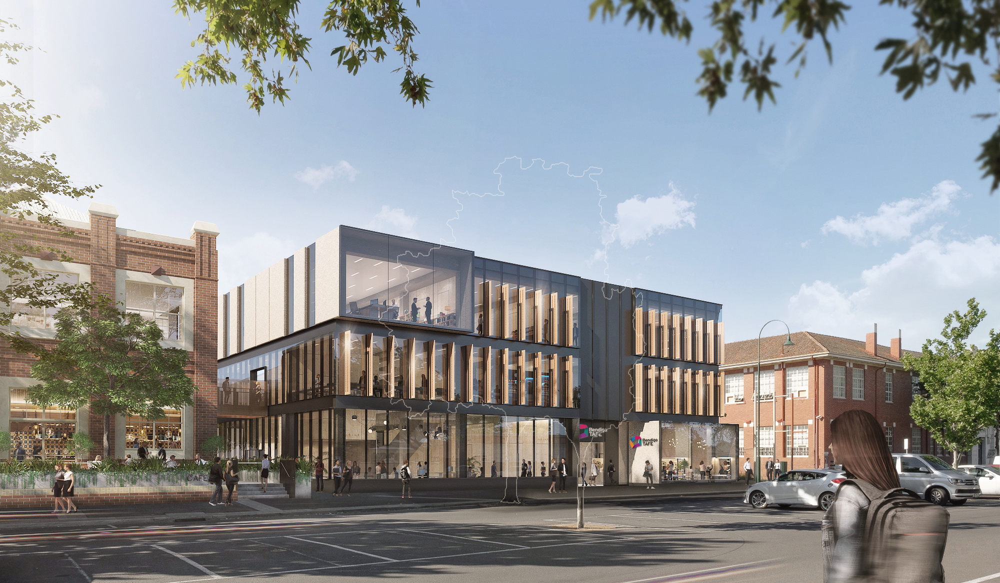 Artist's impression, new building G on Hargreaves Street
