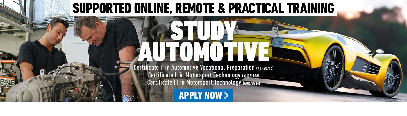 Study Automotive at Kangan Institute