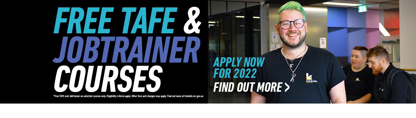 Free TAFE, JobTrainer at Kangan Institute