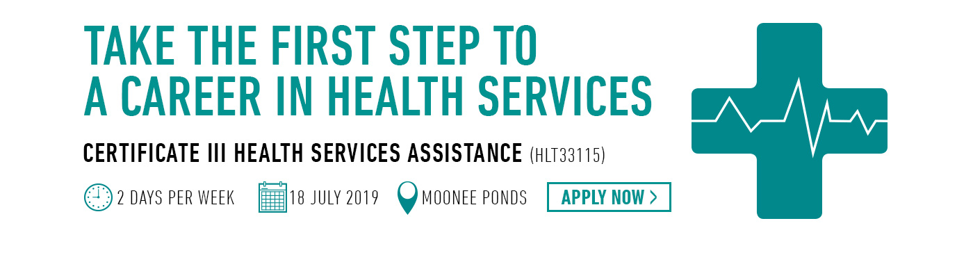 Certificate III in Health Services Assistance at Kangan Institute